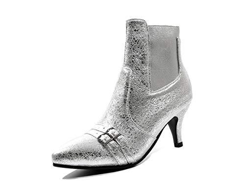 Phorecys Silver Thick Stivali Chelsea Donna wttvrqz