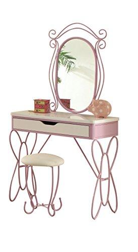 ACME Furniture 30539 Priya II Vanity Set, White & Light Purp