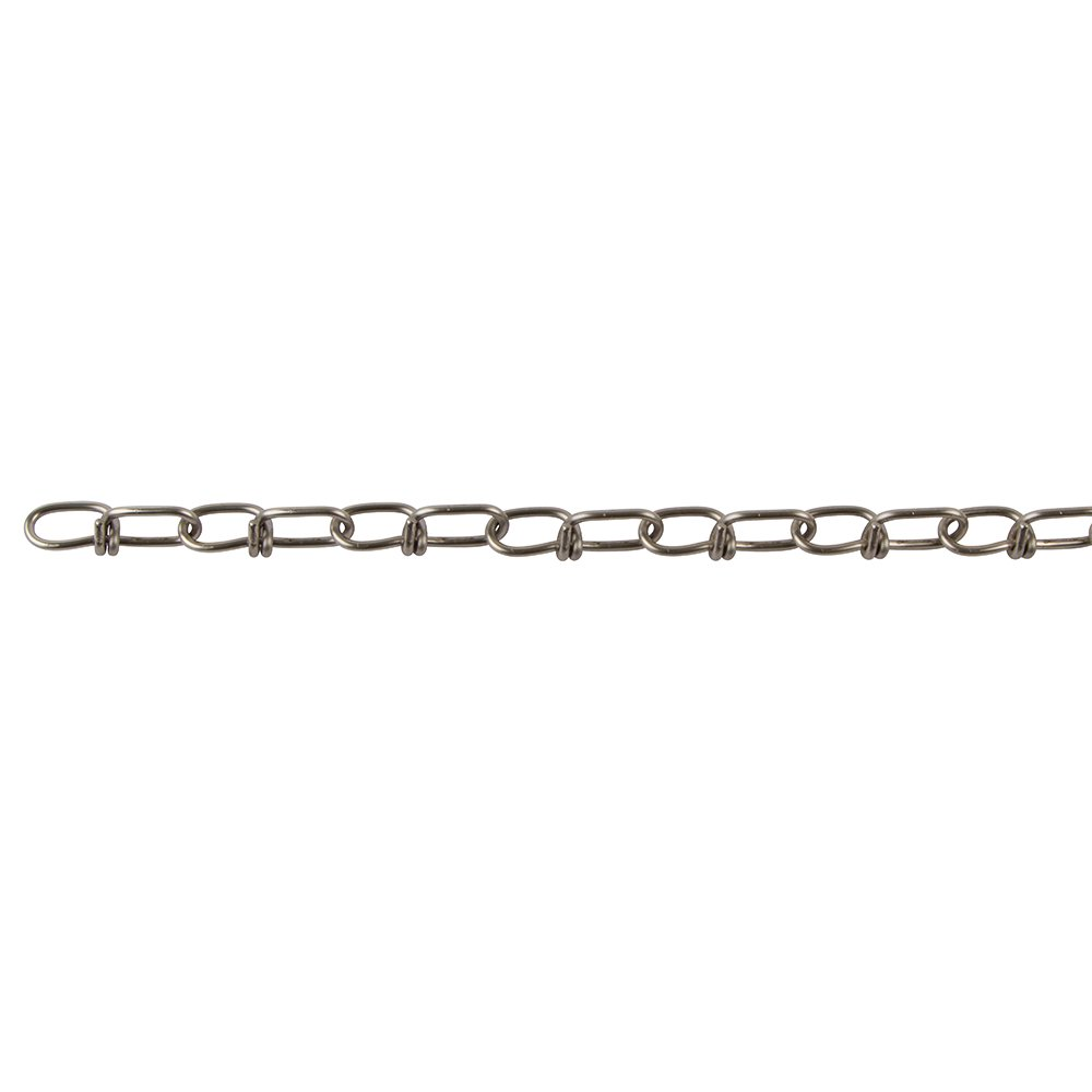 Perfection Chain Products 13512 #3 Double Loop Chain 100 FT Carton Stainless Steel Clean