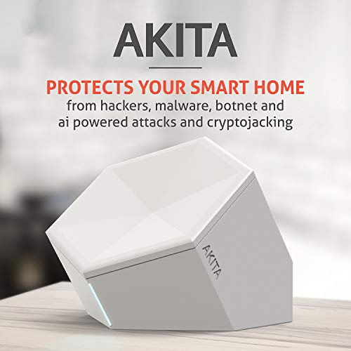 Akita - Smart Home Internet Security Safe Your Smart Home,Security Firewall for Home & Business Everytime, Protect Network from Viruses, maIware, botnet Attacks and cryptojacking.