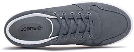 [スポンサー プロダクト][イノヤ]メンズシューズ スニーカー カジュアルシューズ スケートボードシューズ スウェード ローカット レースアップシューズ 通気性 フラット 耐摩耗性 防滑 日常 カジュアル靴 ブルー グレー ブラック