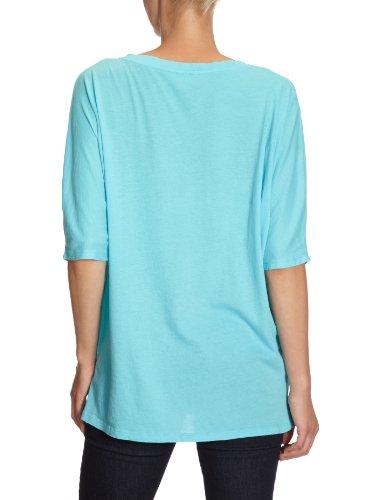 Bobi - Camiseta con cuello de pico de manga 3/4 para mujer Turquesa (Barbados)