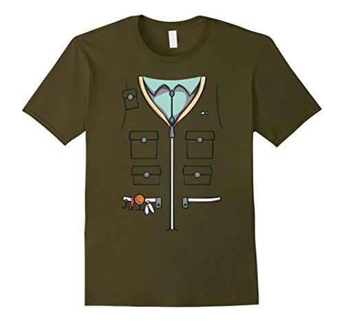 Mens Fisherman Costume T-Shirt for Halloween Fishing Cosplay Tee XL (Fisherman Halloween Costume Ideas)
