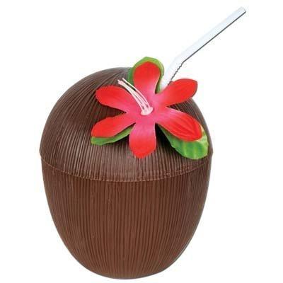 (Plastic Coconut Cup 16 Ozs Party Accessory (1 Count) (1/pkg) Pkg/12)