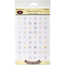 """Justrite Papercraft Clear Stamps 4""""X6""""-Planner Circle Icons"""