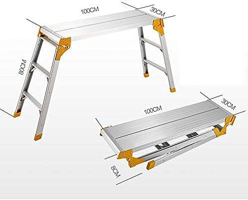 Escalera de Mano Taburete Plegable Escalera Plegable for el hogar de aleación de Aluminio Taburete Escalera Estable for el hogar Elegante Espiga de Aluminio Dorado andamio Plegable de Aluminio for el: Amazon.es:
