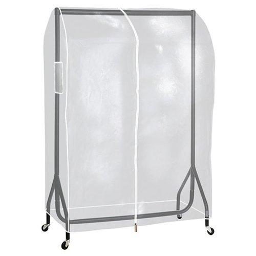 The Shopfitting Shop ® CLEAR TRANSPARENT 3ft LONG CLOTHES RAIL PROTECTIVE COVER FOR GARMENT HANGING COAT RAILS