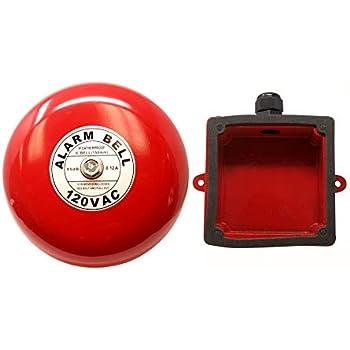 "Security Alarm Bell 120 volt ac Fire Alarm Bell 120 Volt AC 6/"""
