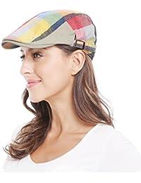 Women Mans Cotton Flat Cap Cabbie Hat newsboy Hunting Hat