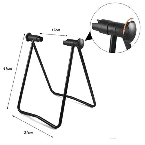 Bike Wheel Rack Folding Stand Parking Repair Holder Hub Cycling Kickstand