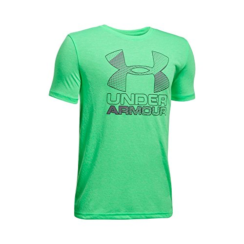 Under Armour Boys' Big Logo Hybrid 2.0 Short Sleeve T-Shirt, Youth Large, Vapor Green (Youth Vapor)