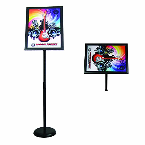 (FFsign Sign Holder Stand with Base Floor Standing Sign Stand for Indoor & Outdoor,Black(11x17inches))