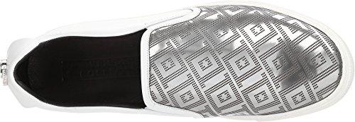 Collezione Versace Mens Greca Slip-on Bianco / Argento