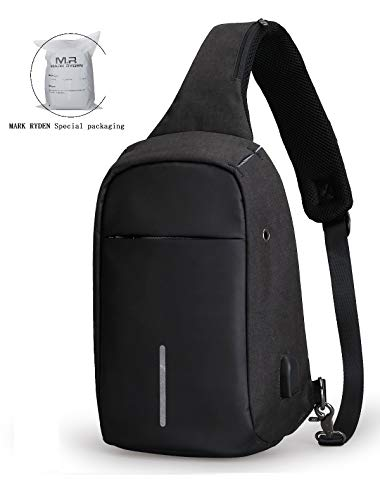 Anti Bag Shoulder Theft (Anti Theft Sling Bag Shoulder Chest Cross Body Backpack Lightweight Casual Daypack)