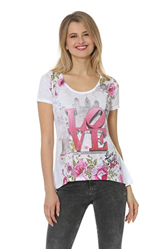 (Sweet Gisele Philly Love-Womens Graphic T-Shirt with Love Block Lettering Print (Medium))