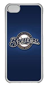 GOOD 5C Case, iPhone 5C Case, Personalized Hard PC Clear Shoockproof Protective Case Cover for New Apple iPhone 5C - Milwaukee Brewers
