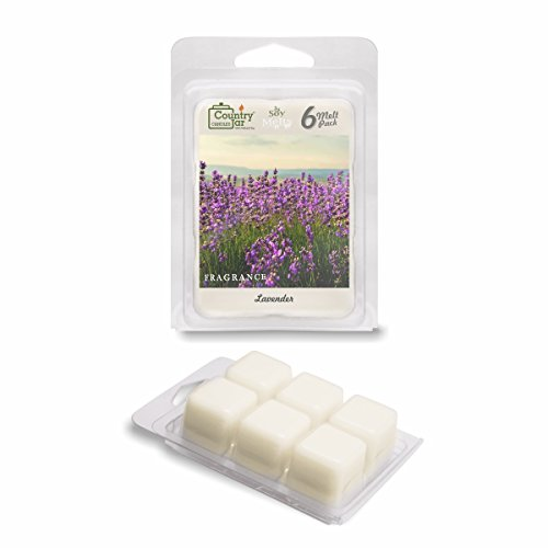 Country Jar LAVENDER Soy Wax Melts for Warmers - 6 Tart Cubes - Made with PREMIUM USA Grown SuperSoy (Lavender Tart)