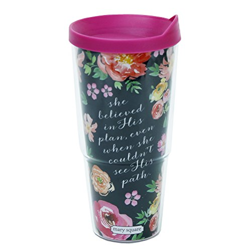 Mary Square 6667 8″X4″X4″ Vintage floral Classic Tumbler