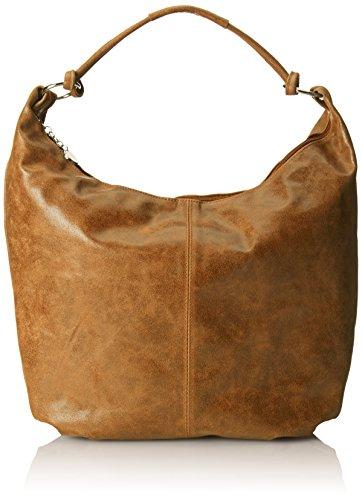 CTM Borsa da Donna da Spalla, Sacca in pelle, 45x35x4cm, Vera pelle 100% Made in Italy Cuoio