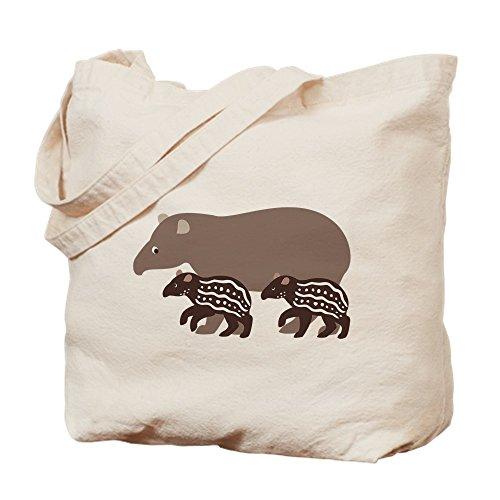 CafePress diseño de tapir familia una gamuza de bolsa–bolsa de lona bolsa, bolsa de la compra