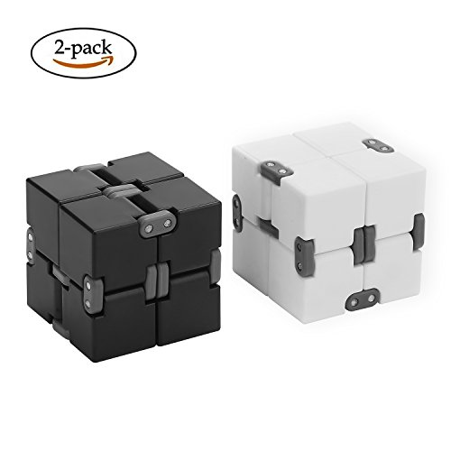 2PCS Infinity Cube,Flip Cube Relieves Anxiety and Stress For Children Teens Adults