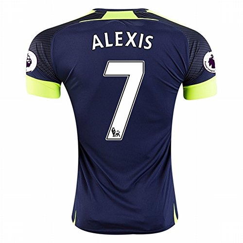 2016 2017 Arsenal 7 Alexis Sanchez The Third Away Football Soccer Jersey In Navy For New Season