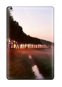 [CxRJjed4842tmeUC]premium Phone Case For Ipad Mini/mini 2/ Trees Mist River Fields Amp Digital Tpu Case Cover