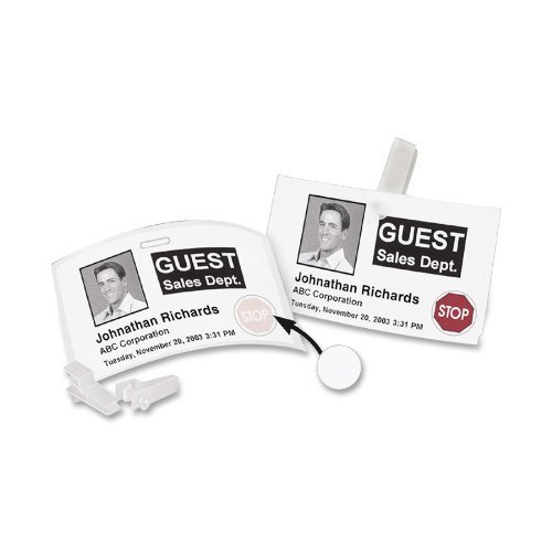 Dymo Badge Label Name (DYMO 30911 LabelWriter Self-Adhesive Name Badge Label with 12-Hour Expiration Notification Discs, 2 1/4- by 4-inch, White, Roll of 250 by DYMO)