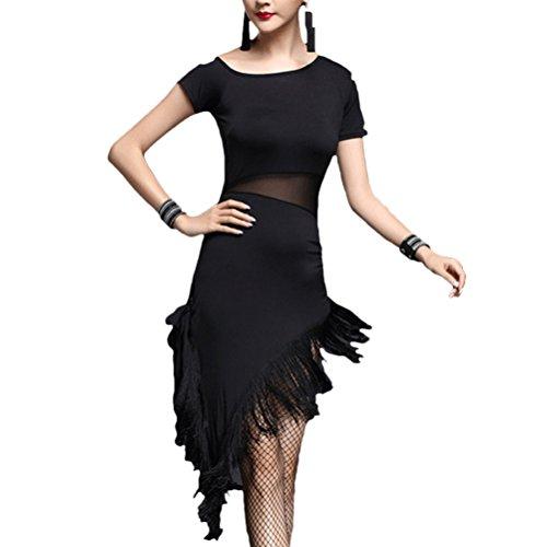 Zhhmeiruian Adult Sexy Latin Salsa Samba Cha cha Ballroom Dance Dress Dancewear (Sexy Ballroom Dress)