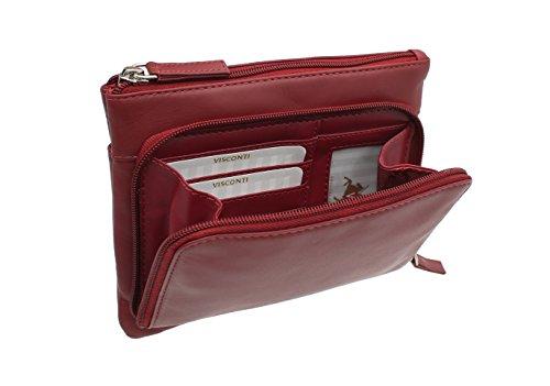 A Visconti Mano In Pelle Rosso Sacchetto 01684 Di Stile ZEF7wxtBq