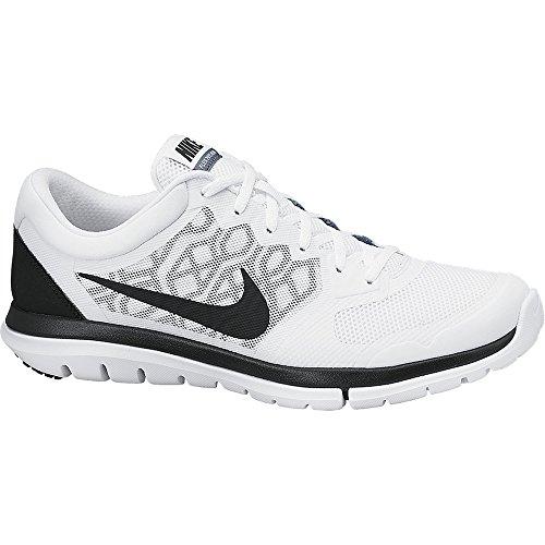 Men's Nike Flex Run 2015 Running Shoe White/Blue Graphite/Black Size 12 M US