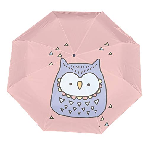 Cartoon Cute Animal Compact Travel Umbrella Cool Outdoor Sun&Rain Umbrella Sturdy Lightweight Dome Repel Umbrella With UV Protection