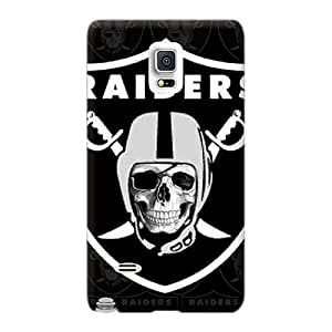 Scratch Protection Hard Phone Cover For Samsung Galaxy Note 4 (BSX2150yXRR) Support Personal Customs Fashion Oakland Raiders Series