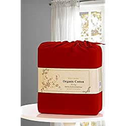 MarCielo 4 Piece Bed Sheet Sets By, Deep Pockets, 100% Ultra Soft Brushed Microfiber Sheets 2500 Bedding: 1 Flat Sheet, 1 Fitted Sheet, 2 Pillow Cases, Wrinkle Fade Resistant, Full Size, Burgundy Red