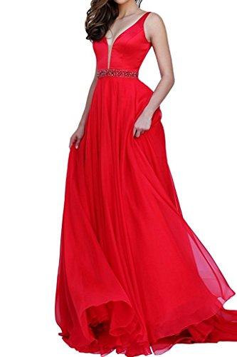 Abendkleider Formalkleider Rot mia Kleider Brautjungfernkleider Promkleider Festlichkleider La Brau Elegant Langes Jugendweihe Y4wfIq