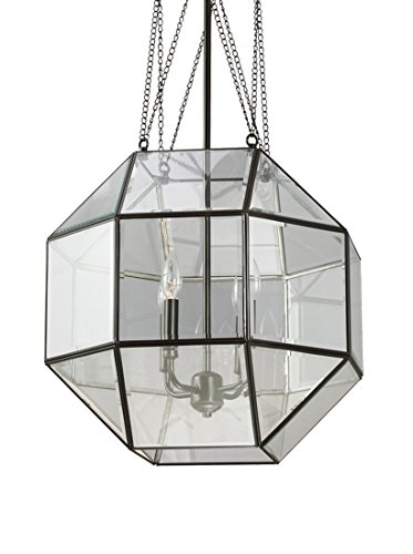 Sea Gull Lighting 6534404-782 Lazlo Four-Light Pendant with Clear Beveled Glass Shade, Heirloom Bronze Finish by Sea Gull Lighting