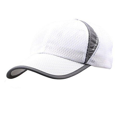 Womens Mens Quick Drying Mesh Baseball Cap Summer Cool Breathable Lightweight Anti UV Sun Protection Hat Adjustable Snapback Tennis Golf Fishing Running Cycling Sun Hat Cap Visor