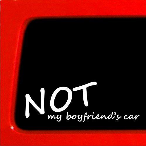 Not My Boyfriends Car - Vinyl Sticker truck girl chick decal - Girl Chick