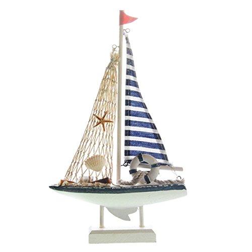 UNIQUEBELLA Handmade Vintage Nautical Decor Sailor Wooden Sailboat Ship BOAT Model Decoration S (Sailboat Party Decor)