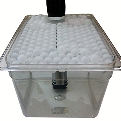 Sous Vide Container 3 Gal (12 QT) and Floating Ball Cover Kit Bundle (Medium)