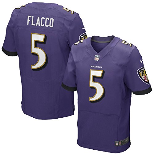 NIKE Joe Flacco Baltimore Ravens Purple Authentic Elite Stitched On-Field Jersey - Men's 48/XL (X-Large)