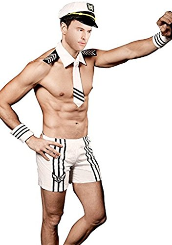 Hoter Men Sailor Seaman Party Costume Cosplay Outfit(Pack of 1 Set)
