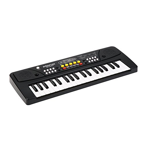 aPerfectLife Chargable Kids Piano, 37 Keys Multi-Function Charging Electronic Kids Keyboard Piano for Kids with Microphone (Black) by aPerfectLife