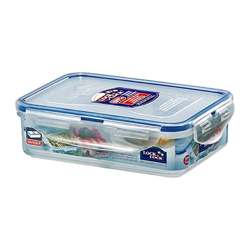 LOCK & LOCK Airtight Rectangular Food Storage Container with Removable Divider 18.60-oz / 2.32-cup (Containers Locknlock)