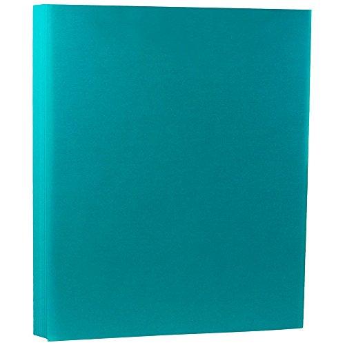 JAM PAPER Translucent Vellum 43lb Cardstock - 8.5 x 11 Coverstock - Aqua Blue - 50 Sheets/Pack Blue Translucent Vellum Envelope