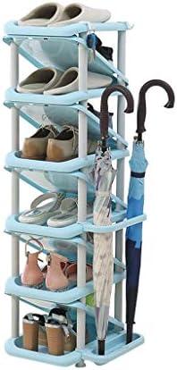 KTYXDE 傘ホルダープラスチック製の靴スタッカーストレージブルー廊下 ...