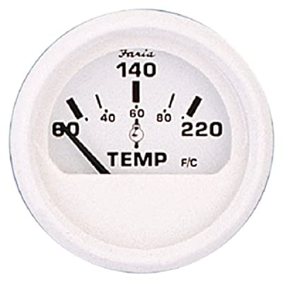 """Faria 13113 Dress Cylinder Head Temperature Gauge with Sender-White, 2"""": Automotive"""