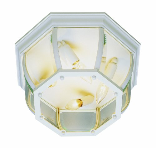 Trans Globe Lighting 4907 RT Outdoor Angelus 6.5'' Flushmount Lantern, Rust by Trans Globe Lighting