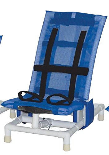 MJM International 191-M-A Articulating Bath Chair Medium, 130 oz Capacity, 33'' Height x 38.5'' Length x 18.75'' Width, Royal Blue/Forest Green/Mauve