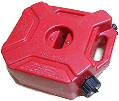 Generic 5 Liter Tank Jerry Dosen Ersatz Kunststoff Petrol Tanks Atv Kanister Halterung Motorrad Gas Können Benzin Öl Behälter Fuel Jugs Sport Freizeit